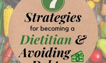 7 strategies for becoming a Dietitian and Avoiding Debt
