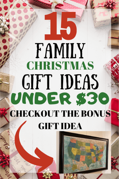 Family Christmas Gift Ideas on a budget.  These Christmas gift ideas won't break the bank!