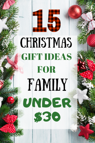 Christmas Gifts for the family. Inexpensive Gift ideas to give to your family this holiday season.