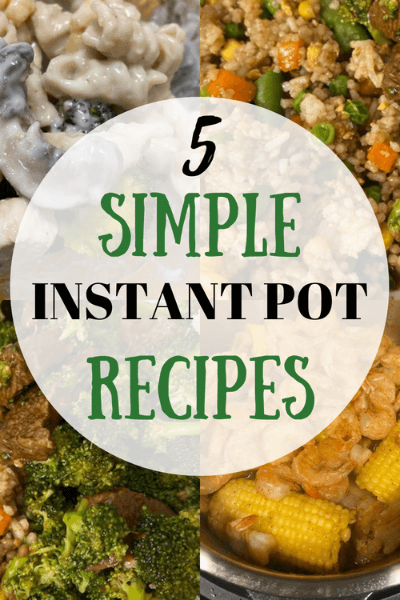 5 Simple and Quick Instant Pot Recipes to try when you're pressed for time.